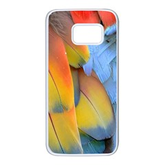 Spring Parrot Parrot Feathers Ara Samsung Galaxy S7 White Seamless Case