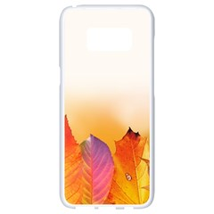 Autumn Leaves Colorful Fall Foliage Samsung Galaxy S8 White Seamless Case by Nexatart
