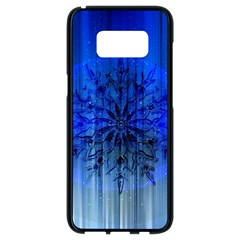 Background Christmas Star Samsung Galaxy S8 Black Seamless Case by Nexatart
