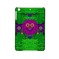 Summer Flower Girl With Pandas Dancing In The Green iPad Mini 2 Hardshell Cases by pepitasart