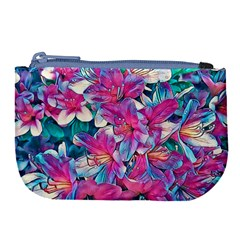 Wonderful Floral 25a Large Coin Purse by MoreColorsinLife