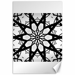 Pattern Abstract Fractal Canvas 12  X 18   by Nexatart