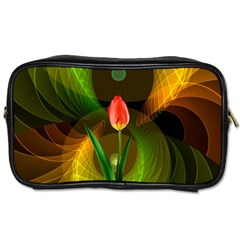 Tulip Flower Background Nebulous Toiletries Bags 2 Side by Nexatart