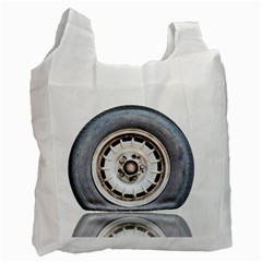 Flat Tire Vehicle Wear Street Recycle Bag (one Side) by Nexatart