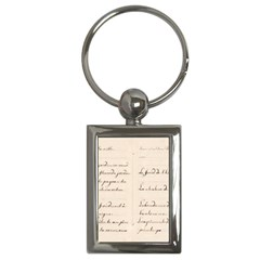 German French Lecture Writing Key Chains (rectangle)  by Nexatart