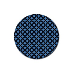 Circles3 Black Marble & Blue Colored Pencil (r) Rubber Round Coaster (4 Pack) by trendistuff