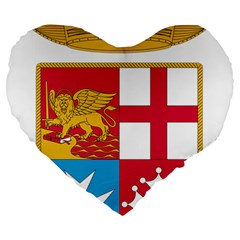 Coat Of Arms Of The Italian Navy Large 19  Premium Flano Heart Shape Cushions by abbeyz71