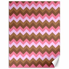 Shades Of Pink And Brown Retro Zigzag Chevron Pattern Canvas 12  X 16   by Nexatart