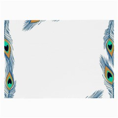 Beautiful Frame Made Up Of Blue Peacock Feathers Large Glasses Cloth by Nexatart