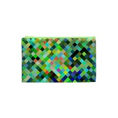 Pixel Pattern A Completely Seamless Background Design Cosmetic Bag (xs) by Nexatart