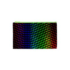 Digitally Created Halftone Dots Abstract Cosmetic Bag (xs) by Nexatart