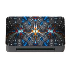 Fancy Fractal Pattern Background Accented With Pretty Colors Memory Card Reader With Cf by Nexatart