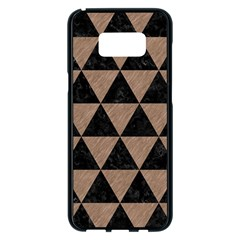 Triangle3 Black Marble & Brown Colored Pencil Samsung Galaxy S8 Plus Black Seamless Case by trendistuff
