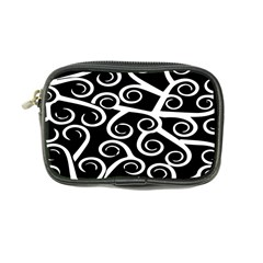 Koru Vector Background Black Coin Purse by Mariart