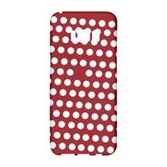 Pink White Polka Dots Samsung Galaxy S8 Hardshell Case  by Mariart