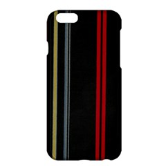 Stripes Line Black Red Apple Iphone 6 Plus/6s Plus Hardshell Case by Mariart