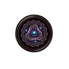 Beautiful Turquoise And Amethyst Fractal Jewelry Hat Clip Ball Marker (4 Pack) by beautifulfractals