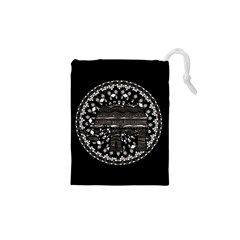 Ornate Mandala Elephant  Drawstring Pouches (xs)  by Valentinaart