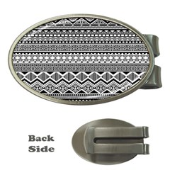 Aztec Pattern Design Money Clips (oval)  by BangZart