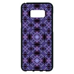 Lavender Moroccan Tilework  Samsung Galaxy S8 Plus Black Seamless Case