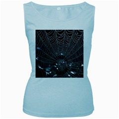 Spider Web Wallpaper 14 Women s Baby Blue Tank Top by BangZart