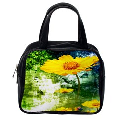 Yellow Flowers Classic Handbags (one Side) by BangZart