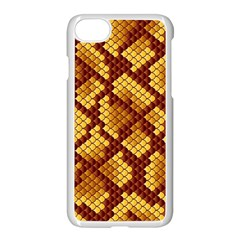 Snake Skin Pattern Vector Apple Iphone 7 Seamless Case (white) by BangZart