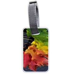 Green Yellow Red Maple Leaf Luggage Tags (two Sides) by BangZart