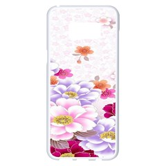 Sweet Flowers Samsung Galaxy S8 Plus White Seamless Case by BangZart