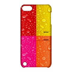 Color Abstract Drops Apple Ipod Touch 5 Hardshell Case With Stand by BangZart