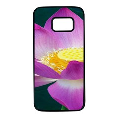 Pink Lotus Flower Samsung Galaxy S7 Black Seamless Case by BangZart