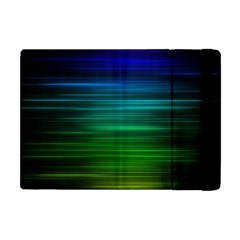 Blue And Green Lines Apple Ipad Mini Flip Case by BangZart