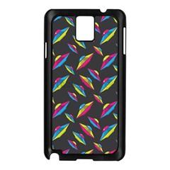 Alien Patterns Vector Graphic Samsung Galaxy Note 3 N9005 Case (black)