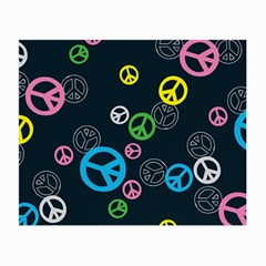 Peace & Love Pattern Small Glasses Cloth (2 Side) by BangZart
