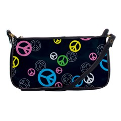 Peace & Love Pattern Shoulder Clutch Bags by BangZart
