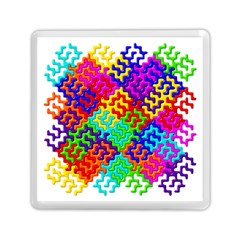 3d Fsm Tessellation Pattern Memory Card Reader (square)