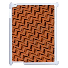 Brown Zig Zag Background Apple Ipad 2 Case (white) by BangZart