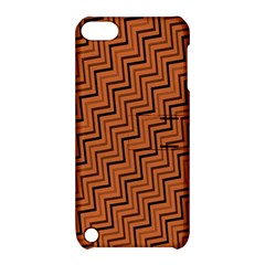 Brown Zig Zag Background Apple Ipod Touch 5 Hardshell Case With Stand by BangZart