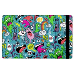 Monster Party Pattern Apple Ipad 2 Flip Case by BangZart
