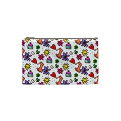 Cute Doodle Wallpaper Pattern Cosmetic Bag (small)  by BangZart