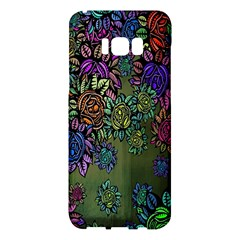 Grunge Rose Background Pattern Samsung Galaxy S8 Plus Hardshell Case  by BangZart