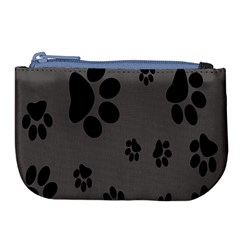Dog Foodprint Paw Prints Seamless Background And Pattern Large Coin Purse by BangZart