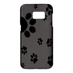 Dog Foodprint Paw Prints Seamless Background And Pattern Samsung Galaxy S7 Hardshell Case  by BangZart