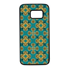 Vintage Pattern Unique Elegant Samsung Galaxy S7 Black Seamless Case by BangZart