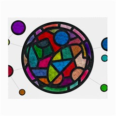 Stained Glass Color Texture Sacra Small Glasses Cloth by BangZart