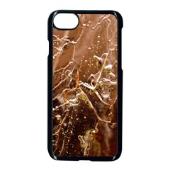 Ice Iced Structure Frozen Frost Apple Iphone 7 Seamless Case (black) by BangZart