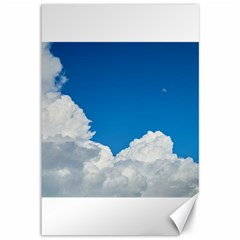 Sky Clouds Blue White Weather Air Canvas 12  X 18   by BangZart