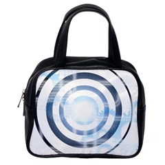 Center Centered Gears Visor Target Classic Handbags (one Side) by BangZart