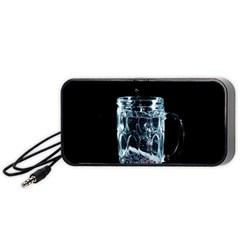 Glass Water Liquid Background Portable Speaker (black)