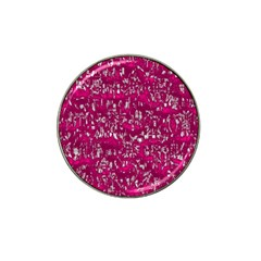 Glossy Abstract Pink Hat Clip Ball Marker (4 pack) by MoreColorsinLife